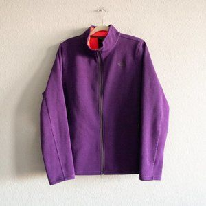 The North Face Purple Waffle Knit Jacket Size XL